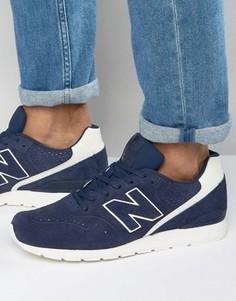 Темно-синие кроссовки в стиле 70-х New Balance Running 420 MRL996DV - Темно-синий