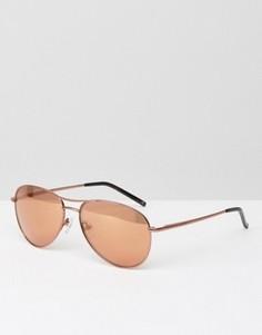 Солнцезащитные очки-авиаторы оттенка розового золота Ted Baker Carter - Золотой