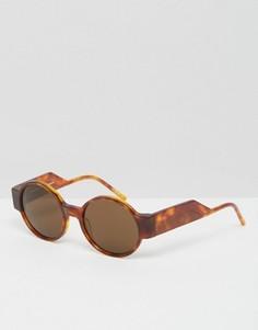 Круглые солнцезащитные очки Kaibosh Untamed - Коричневый