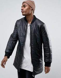 Длинная дутая куртка Black Seven Conway - Черный
