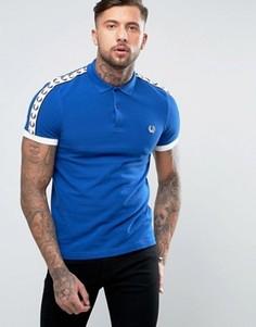 Синяя узкая футболка-поло Fred Perry Sports Authentic - Синий