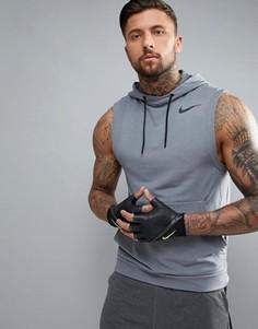 Серое худи без рукавов Nike Training 742618-065 - Серый