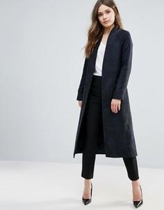 Длинное креповое пальто Helene Berman - Черный