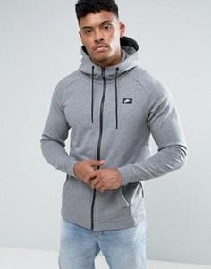 Худи серого цвета на молнии Nike 805130-091 - Серый