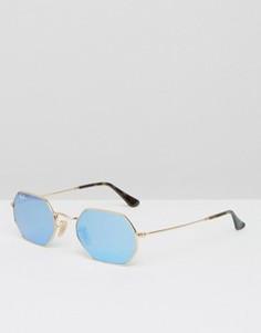 Солнцезащитные очки шестиугольной формы Ray-Ban 0RB3556N - Золотой