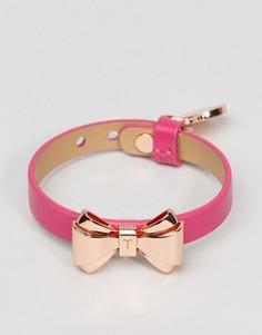 Кожаный браслет с бантиком Ted Baker - Розовый