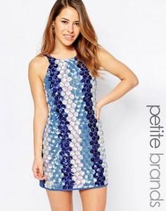 Платье на бретельках с пайетками True Decadence Petite - Синий