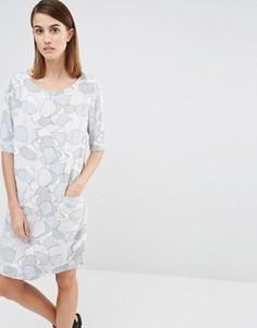 Платье с лунным пейзажем Selected Tunni - Серый