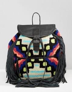 Рюкзак с отделкой под ковер и кисточками Cleobella Cornel - Мульти