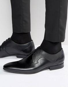 Кожаные туфли дерби Ted Baker Pelton - Черный