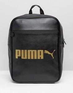 Рюкзак из искусственной кожи с логотипом Puma - Черный