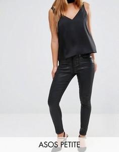 e2ef574fc28 Черные джинсы с покрытием ASOS PETITE SCULPT ME Premium - Черный