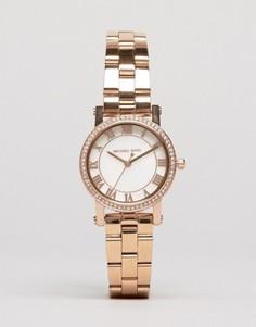 Часы оттенка розового золота Michael Kors Petit Noire MK3558 - Золотой