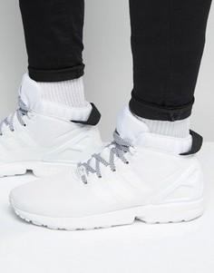 Белые кроссовки adidas Originals ZX Flux 5/8 S75944 - Белый