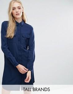 Платье-рубашка Vero Moda Tall - Черный