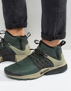 Зеленые кроссовки средней высоты в стиле милитари Nike Air Presto 859524-300 - Зеленый