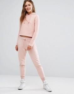 Стеганые спортивные штаны New Look - Розовый