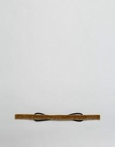 Эластичная повязка на голову с золотистыми блестками ASOS - Золотой