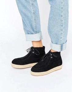 Ботинки на веревочной подошве ASOS JOPETTE - Черный