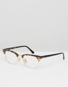 Очки-клабмастеры Ray-Ban 0RX5154 - Коричневый