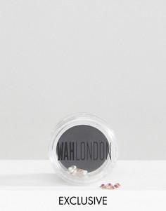 Горшочки для дизайна ногтей WAH London & ASOS - Holo Crystal - Серебряный