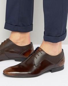 Блестящие кожаные туфли Ted Baker Pelton - Коричневый