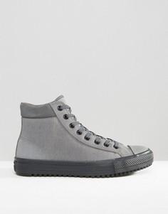Серые кеды-ботинки Converse Chuck Taylor All Star Converse 153673C-057 - Бежевый