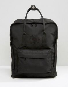 Черный рюкзак Fjallraven Re-Kanken - Черный