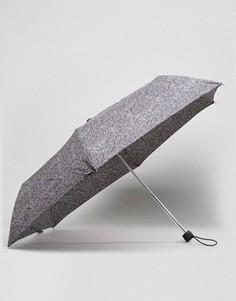 Ультракомпактный зонт в горошек Fulton - Черный