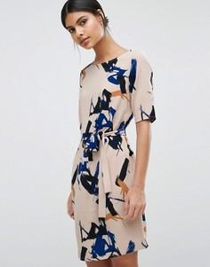 Платье с принтом Selected - Мульти