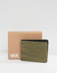 Бумажник цвета хаки из искусственной кожи ASOS - Зеленый