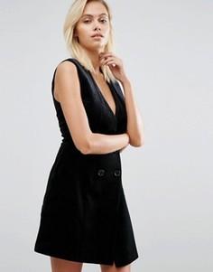Бархатное платье под смокинг Greylin Thompson - Черный