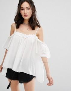 Блузка с открытыми плечами Raga Hudson - Белый