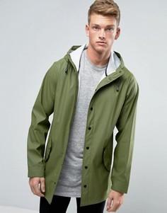 Водонепроницаемый дождевик цвета хаки ASOS - Зеленый
