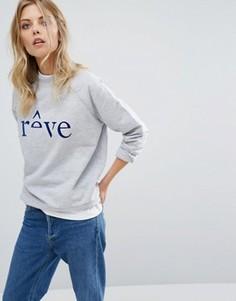 Свитшот с логотипом Selected Femme Reve - Серый
