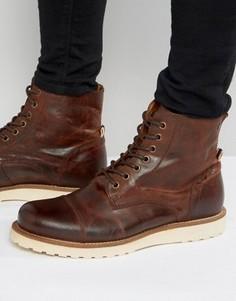 Кожаные ботинки на шнуровке Jack & Jones Martin - Коричневый