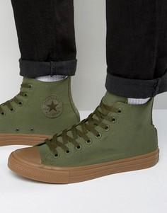 Высокие зеленые кеды Converse Chuck Taylor All Star II 155498C - Зеленый