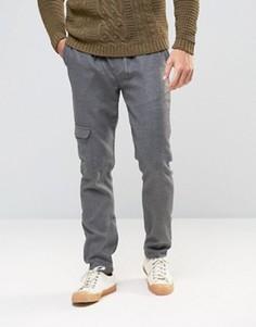 Серые узкие джоггеры с карманами-карго ASOS - Серый