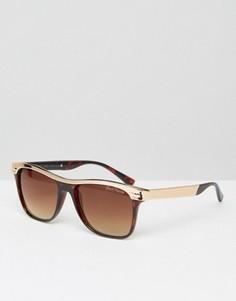 Круглые солнцезащитные очки Black Phoenix - Коричневый