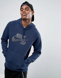 Худи темно-синего цвета Nike SB 846886-452 - Темно-синий
