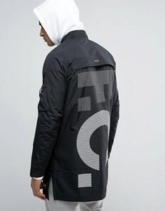 Черный длинный бомбер Nike FC 831159-010 - Черный