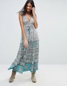 Платье макси с принтом Raga Far Lands - Мульти