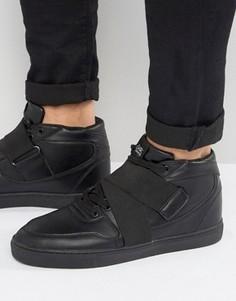 Черные средние кроссовки с ремешками Sixth June - Белый