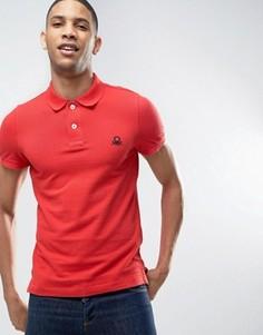 Узкая футболка-поло с короткими рукавами United Colors of Benetton - Красный
