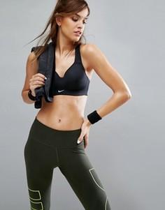 Черный спортивный бюстгальтер со спинкой-борцовкой Nike Pro Rival Full Support - Черный