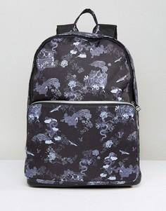 Рюкзак с принтом драконов и отделкой из искусственной кожи ASOS - Черный c5a58ad75ba