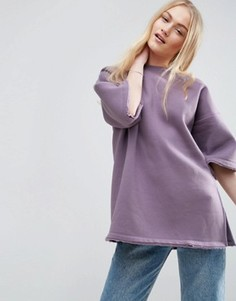 Свитшот с необработанными краями ASOS PREMIUM - Фиолетовый