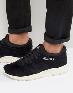 Черные замшевые кроссовки Asics Gel-Lyte V H736L 9090 - Черный