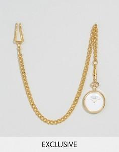 Золотистые карманные часы Reclaimed Vintage Inspired - Золотой