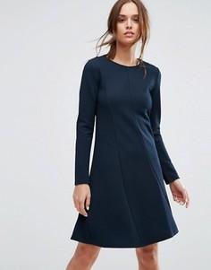 Платье с длинными рукавами Selected Femme - Темно-синий